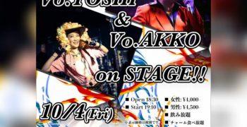 10月4日(金)【TOSHI&AKKO】京都トコナッツ出演❗